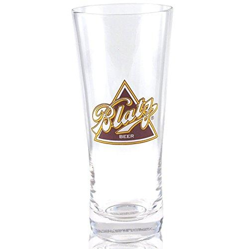 Flared Glass Pilsner Beer - Blatz Beer Flared Pilsner Glass Officially Licensed, Set of 4