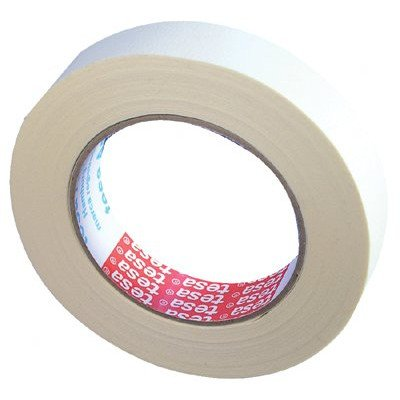 00001 Natural (Tesa 744-50124-00001-00 General Purpose Masking Tape, 203 Degree F Performance Temperature, 20 lb/in Tensile Strength, 60yds Length x 2