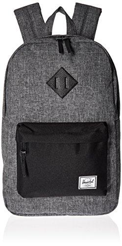 herschel-supply-co-heritage-mid-volume-backpack-raven-crosshatch-black-black-leather