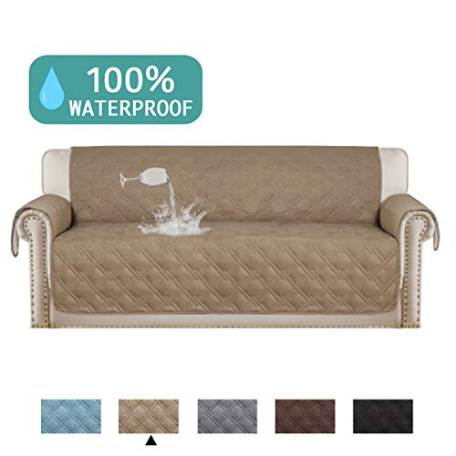 (Turquoize 100% Waterproof Couch Cover from Dogs Sofa Cover Protector for Leather Sofa Slipcover Soft and Smooth Quilted Furniture Protector Non Slip Cover for Pets and Kids (Sofa, 75