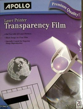 Apollo Laser Printer Transparency Film (Apollo Laser Printer Transparency Film)