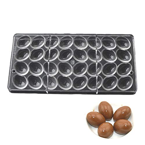 Grainrain Small Smooth Easter Eggs Chocolate Clear Polycarbonate DIY PC Mold Plastic Mould