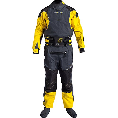 Level Six Emperor 3.0 Ply Drysuit, X-Small, Bright Yellow/Charcoal by Level Six