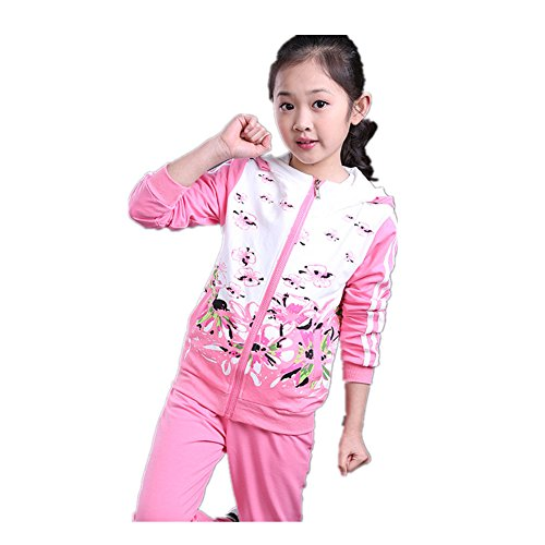 ftsucq-girls-floral-printed-sweatsuit-sports-two-pieces-setpink-130