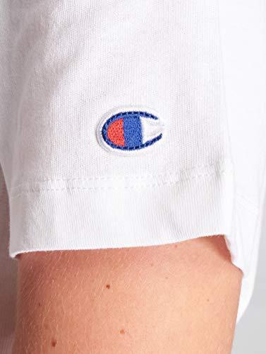 Blanc Weave Champion Reverse wht Ww001 Shirt T Femme TnnScOW