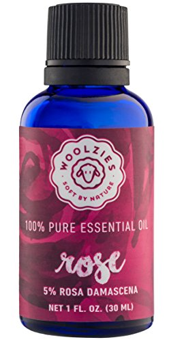 Woolzies best quality 100% natural blend of rose oil and other essential oils, therapeutic grade, 1 fl oz