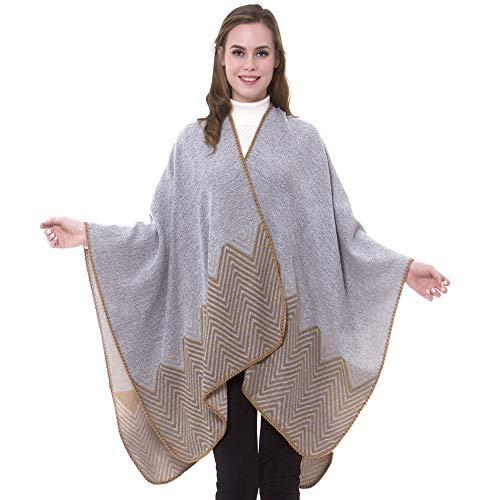 sunseen Womens Winter Shawl Wrap Open Front Poncho Cape Oversized Fashion Sweater Pashmina Travel Blanket Cardigan