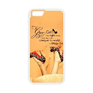 Unique Design Cases Nrhwf iPhone 6 4.7 Inch Cell Phone Case My Word Give A Girl Right Shoes She Can Conquer The World Printed Cover Protector