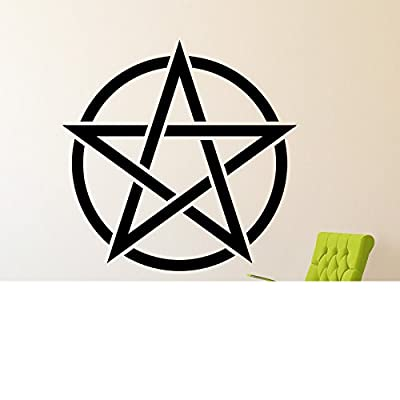 HUANYI Pentagram Pentacle Pagan Witchcraft Vinyl Wall Art Sticker Decal
