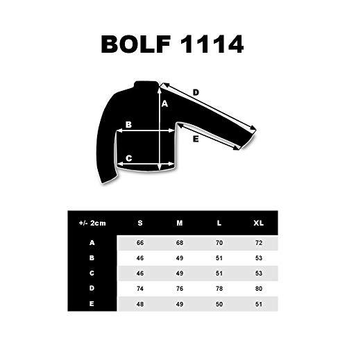 1a1 1114 Bolf Uomo Antracite Manica – Da Di Maglia Rotondo Scollo Moda Stampa Longsleeve Lunga ffw6a