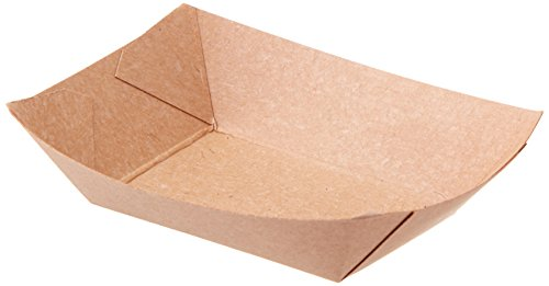 Dixie 0.25# Poly-Coated Paper Food Tray by GP PRO (Georgia-Pacific), ES25U, Brown, 0.25lb, 1000 Count (250 Trays Per Pack, 4 Packs Per Case)