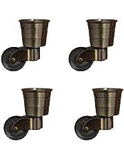 zwenkwielen met rem, Caster Wheels, Antique Meubels Swivel Caster 360 Graden Rotated Swivel Caster Wheel, Vervanging Castor voor Sofa, Tafel, Stoelen, Retro Klassieke Cup Type, Met Schroeven, Set van