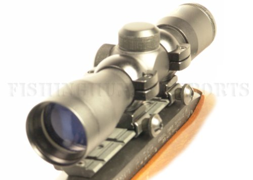 Ruger 10/22 Black (Blued) 4x30 Rifle Scope w/ Free Mount & Rings (Best Scope For Lever Action)