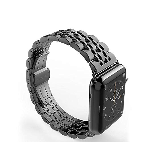 Amazon.com: Stainless Steel Strap for Apple Watch Band 4 ...