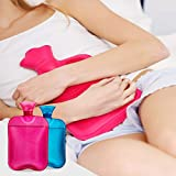 AZMED Hot Water Bottle with Cover, 2-Liter