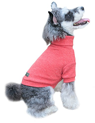 Gyapet Dog Sweater Turtleneck Cloth Coat Shirt Warm Winter Cold Christmas for Small Medium Pet M