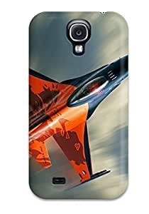 New F 16 Fighting Falcon Fighter Aircraft Tpu Skin Case Compatible With Galaxy S4 BY icecream design