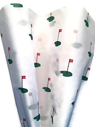 18TH HOLE GOLF Tissue Paper for Gift Wrapping, 24 Large Sheets, (Hole 20 Sheet)