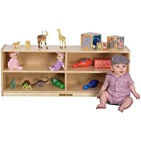 Kids Station 18 4 Sect Preschool Cabinet, Fully Assembled