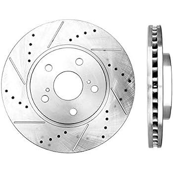 Rotors Set 2 fit Lexus ES300h ES350 Toyota Avalon Camry Matrix Rav4 Callahan CDS02073 FRONT Premium Grade D//S 296 mm