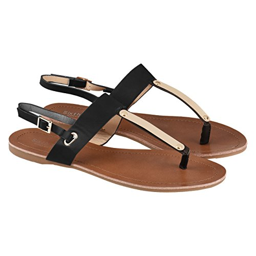 Markenlos In Sixth Applicazioni Collection Sens Sandalo Nero Con Dorate infradito nbsp;colori 2 Von UqpwO4U