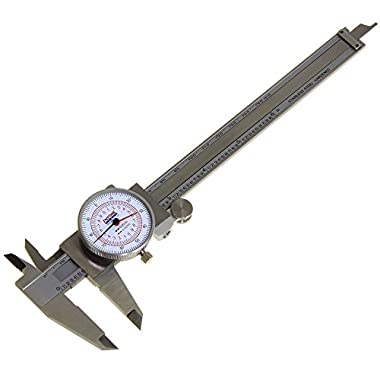 Anytime Tools Dial Caliper 6  / 150mm DUAL Reading Scale METRIC SAE Standard INCH MM
