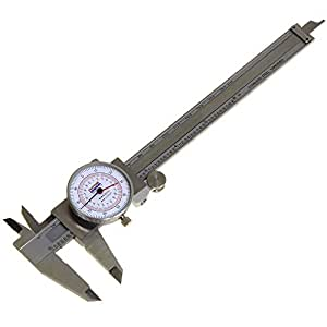 """Anytime Tools Dial Caliper 6"""" / 150mm DUAL Reading Scale METRIC SAE Standard INCH MM"""