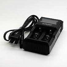 """D2 5.5""""LCD US Plug 2-Slot Li-ion / Ni-MH / NiCd Battery Charger for 18650 / AA / AAA + More (DC 12V, AC 100-240V)"""