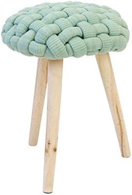 Confortshop Diseño S.L. Crochet U01Lot de 2tabourets, 36x 36x 46H cm, Vert, chêne, Polyester, Bois Massell