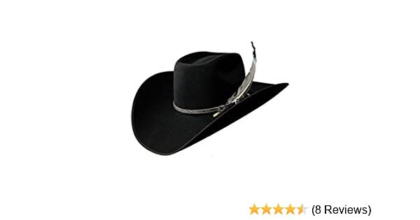 258e049a9baaf Resistol Cowboy Hat XXX Premium Wool Black Bull Bash B at Amazon Men s  Clothing store