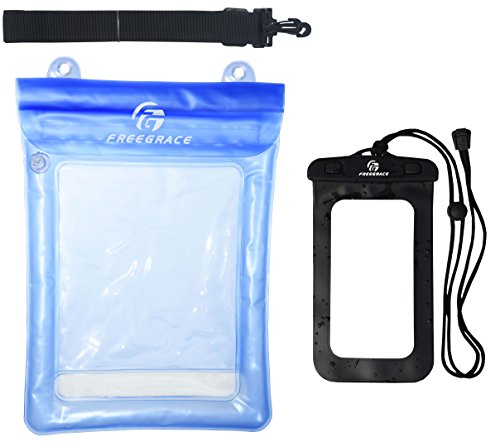 Waterproof Float Pouch with Detachable Shoulder Strap and IPX8 Phone Case - Perfect for Boating Swimming Snorkeling Kayaking Beach Pool Water Parks - Waterproof Sunglasses Case