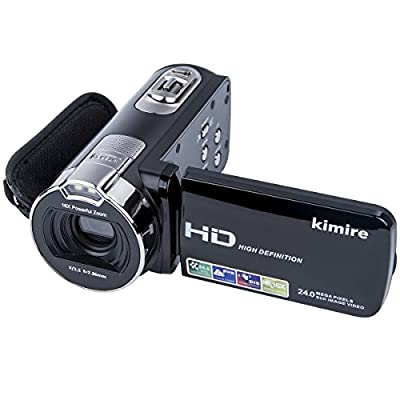 Digital Camera Camcorders Kimire HD Recorder 1080P 24 MP 16X Powerful Digital Zoom Video Camcorder 2.7 Inch LCD Stabilization With 270 Degree Rotation Screen Camera Bag Lithium Battery from China