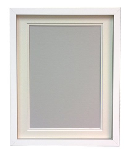 RIO White Photo Picture Frame with Ivory Double A4 for Pic Size 9\