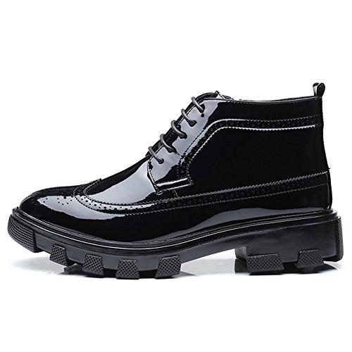 Bottes Homme Cuir Zip,Chaussures de Travail Homme Chaussures de Sécurité black