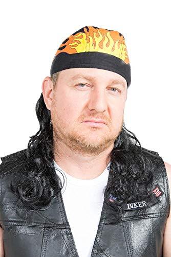 The Fury Mullet Wig Skull Cap -