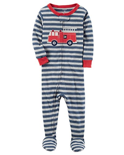 Cotton Footie Pajamas (Carter's Boys' 12M-4T One Piece Firetruck Print Cotton Pajamas 18 Months)