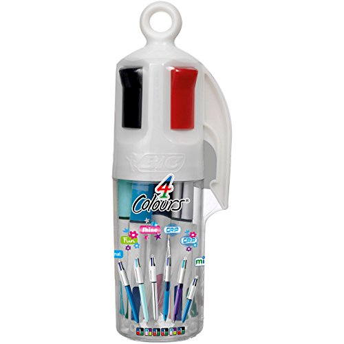 BIC 4 Colours Mixed Ballpoint Pens 6 Pot