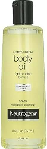 Neutrogena Fragrance-Free Lightweight Body Oil for Dry Skin, Sheer Moisturizer in Light Sesame Formula, 8.5 fl. oz