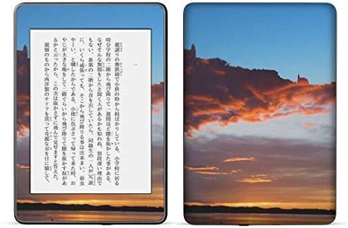 igsticker kindle paperwhite 第4世代 専用スキンシール キンドル ペーパーホワイト タブレット 電子書籍 裏表2枚セット カバー 保護 フィルム ステッカー 016397 風景 雲