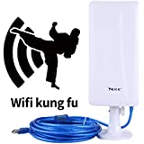 Long Range Wifi Adapter Built-in High gain Antenna 14dBi 802.11n 150Mbps USB Powered 16Ft Cable