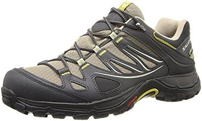 Salomon Women's Ellipse GTX Hiking Shoe, Thyme/Asphalt/Dark Green, 7 M US