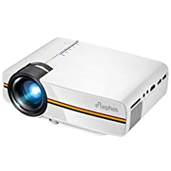 ENJOY YOUR HOME THEATER ENTERTAINMENT WITH ELEPHAS NEWEST SMART VIDEO PROJECTOR, CHRISTMAS GIFT FOR YOUR FAMILY & FRIENDS ! Moving to Large Screen from TV Elephas YG400 Video Projector provide 50~130 inches large projection size for you w...