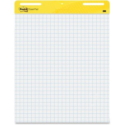 Post-it Easel Pads, Self-stick, 25''x30'', Grid, 30 Sheets/Pad, 2/Carton MMM560 by Post-It