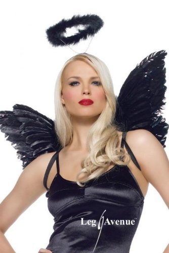 (Black or White Angel Kit Costume Accessory)