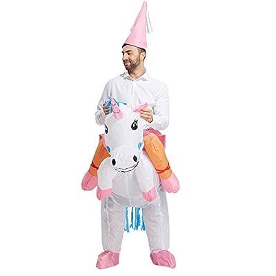 TOLOCO Inflatable Unicorn Rider Halloween Costume