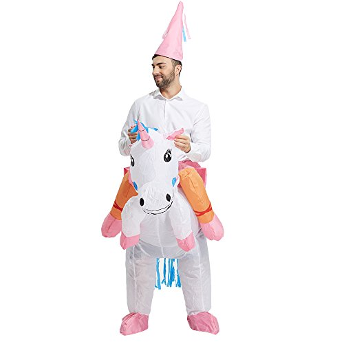 692c094113dc3 TOLOCO Inflatable Unicorn Rider Costume | Inflatable Costumes For Adults Or  Child | Halloween Costume | Blow Up Costume