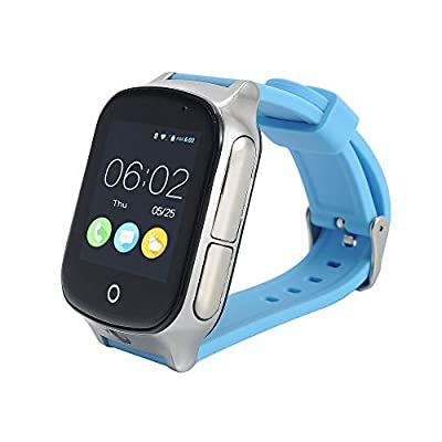 3G GPS Watch Phone Call, KKBear Real-time Tracking, Geo-Fence Touch Screen Camera Step Counter SOS Alarm Remote Monitor Anti-Lost Elderly Care Smart Watch with GPS Activity Tracker