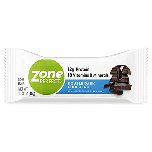 ZonePerfect Protein Bars, Double Dark Chocolate, 12g of Protein, Nutrition Bars With Vitamins & Minerals, Great Taste…