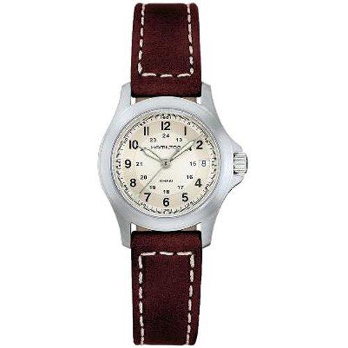 Hamilton H64211523 - Reloj analógico de mujer de cuarzo con correa de piel marrón - sumergible a 50 metros: Amazon.es: Relojes