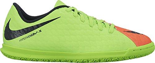Nike Unisex-Kinder Hypervenomx Phade III IC Fußballschuhe Grün (Elctrc Green/Black-Hyper Orange-Volt)